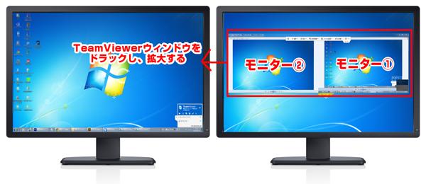 2画面デュアル操作|TeamViewer使い方 | teamviewer使い方